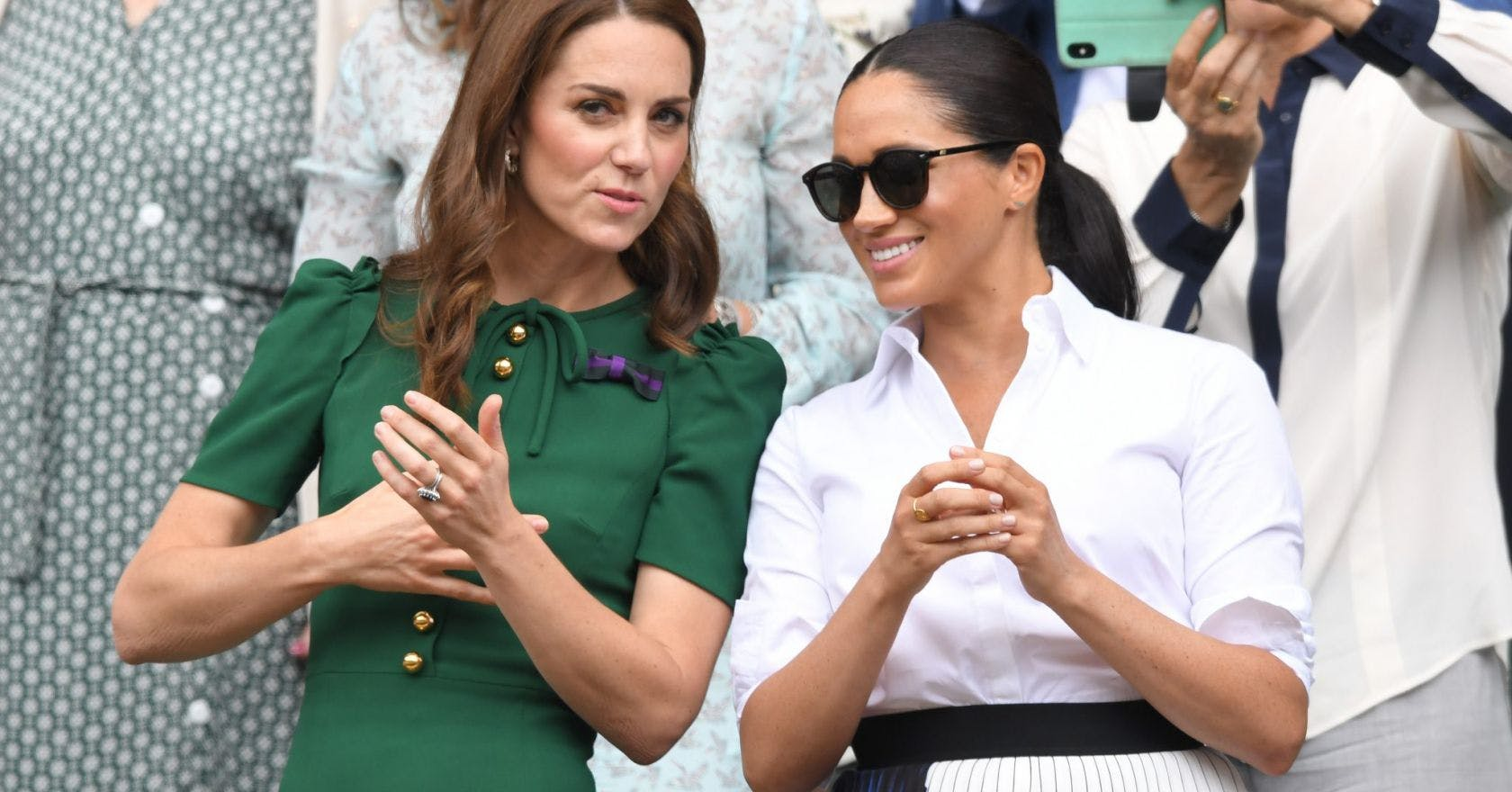 """Kate Middleton and Meghan Markle's """"feud"""" expertly explained by Fergie"""