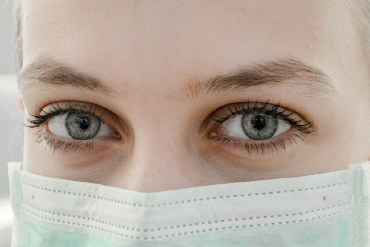 Nurse coronavirus PPE mask
