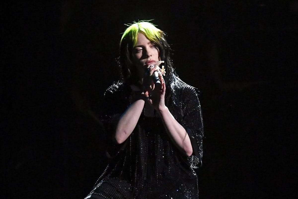 Billie Eilish performs during The BRIT Awards 2020