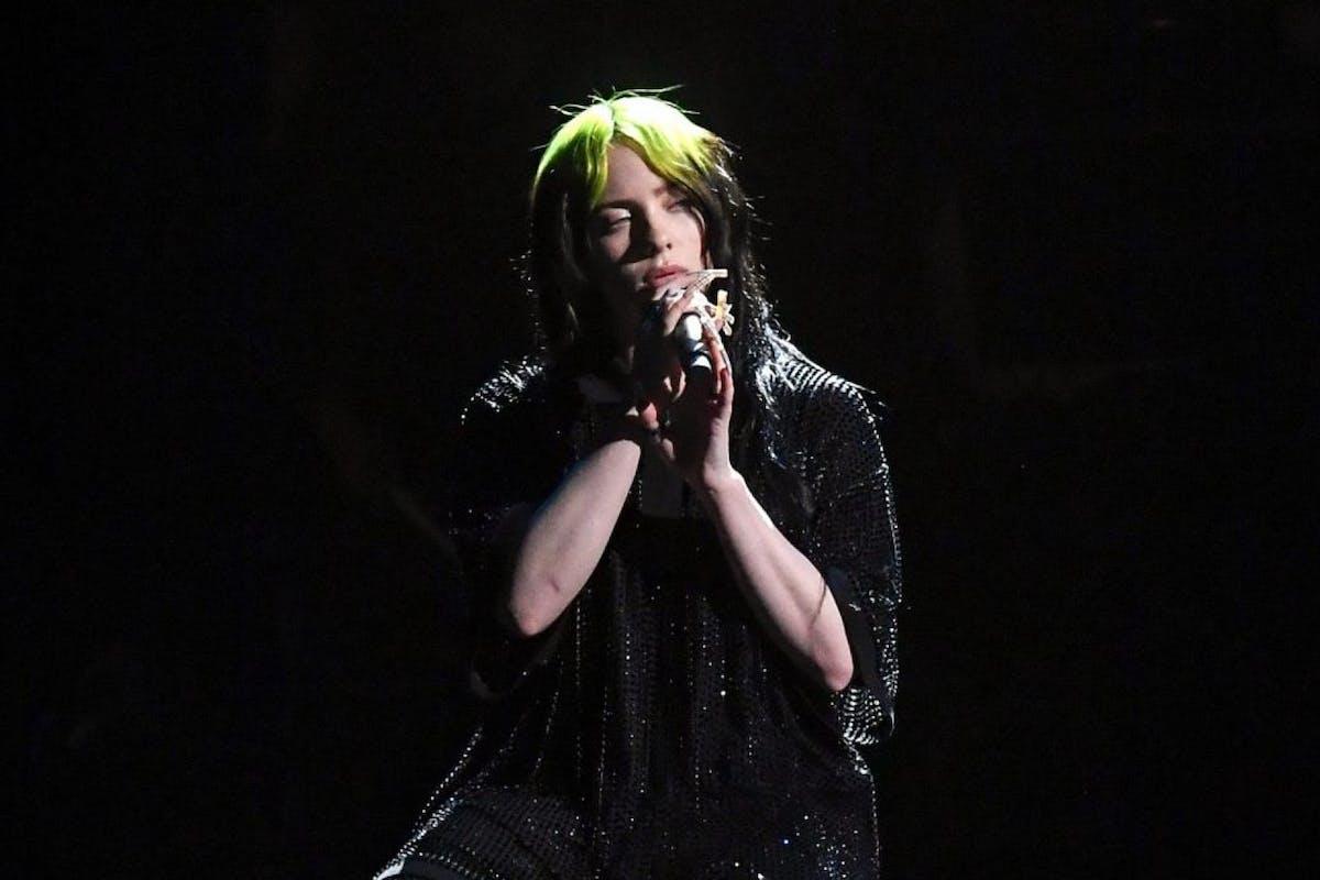 Billie Eilish performs during The BRIT Awards 2020