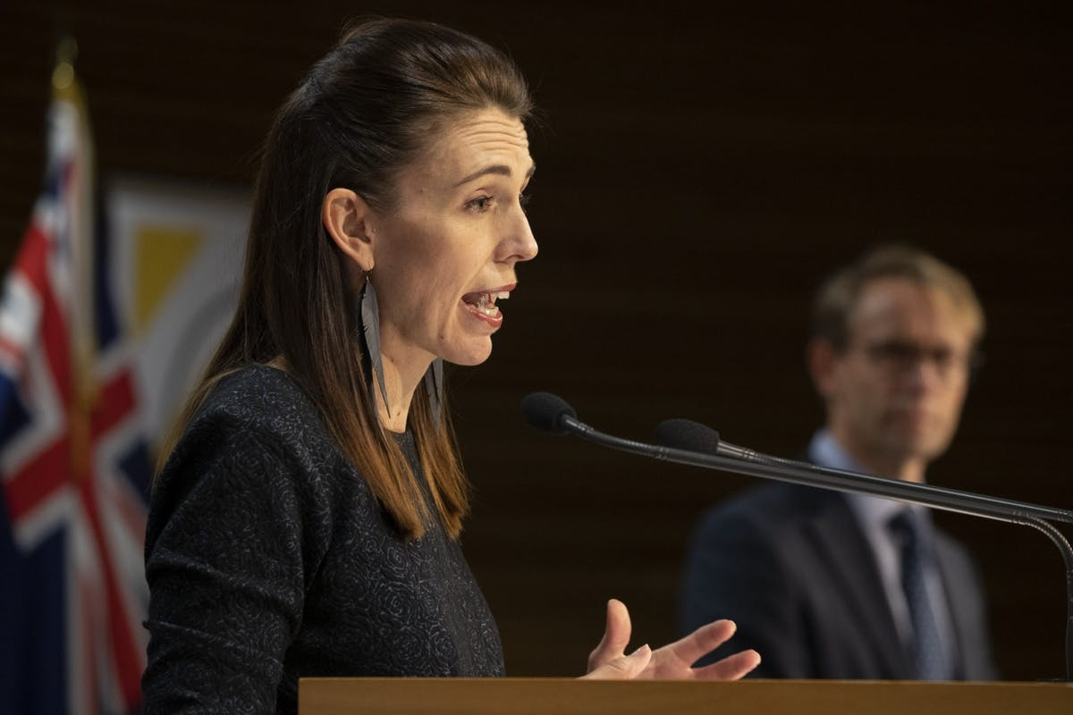 New Zealand prime minister Jacinda Ardern during her daily coronavirus briefing