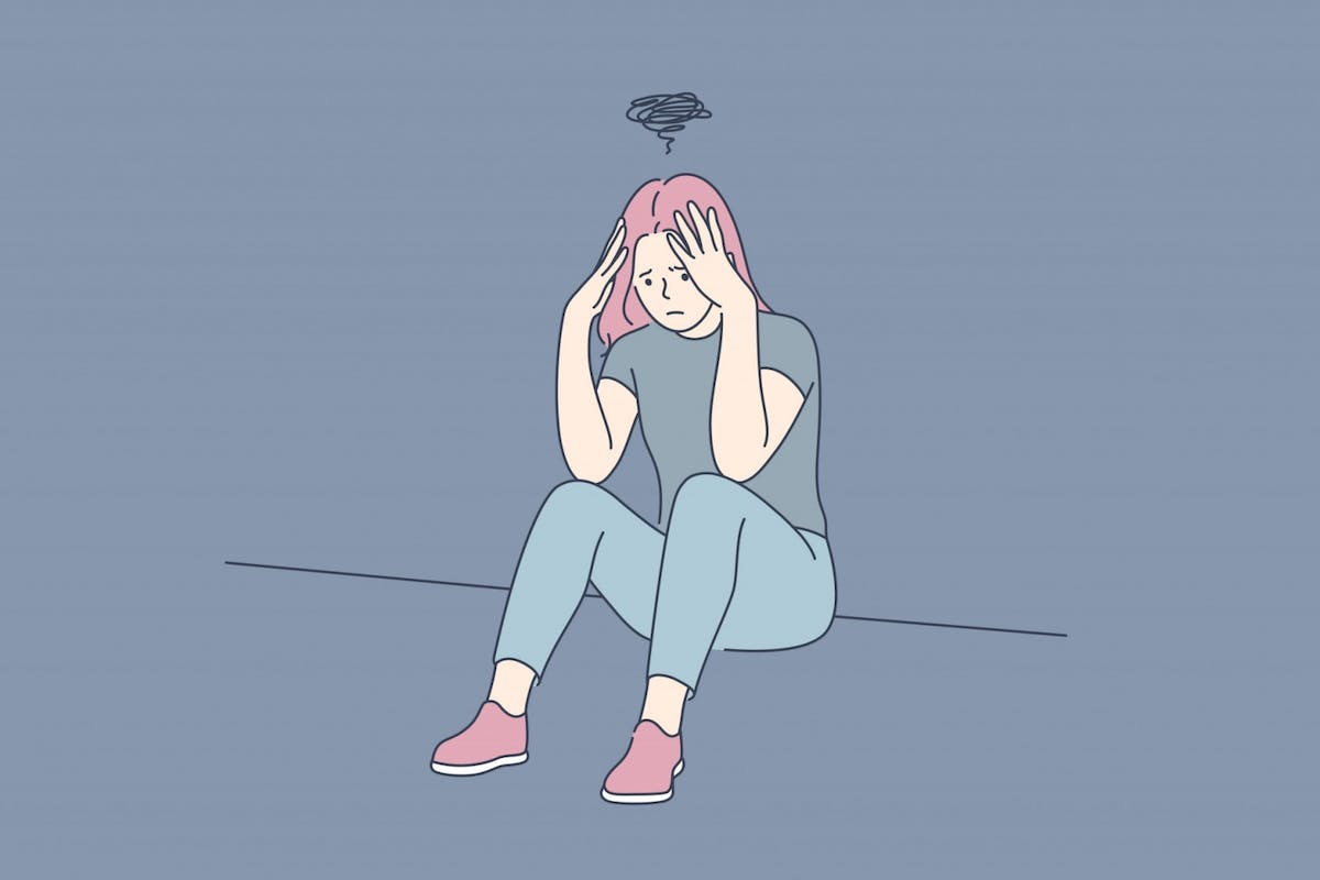 A woman with anxiety