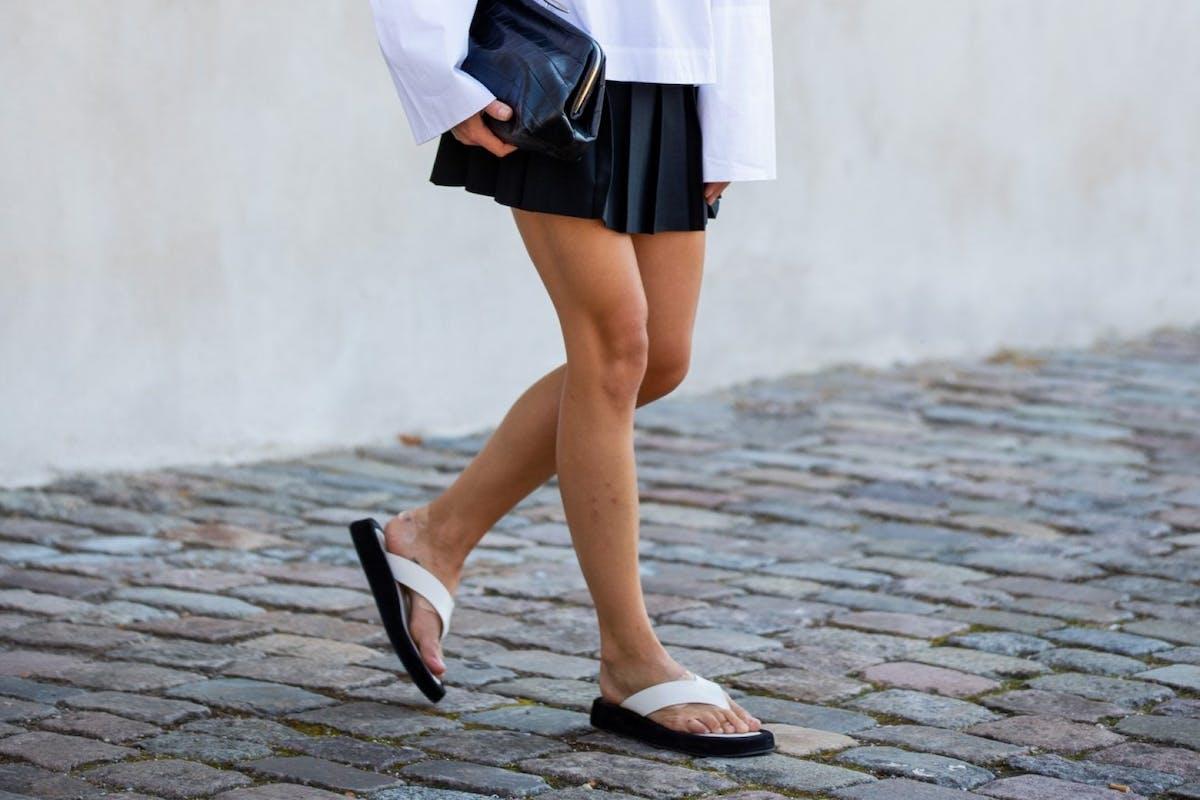 Street style sandals