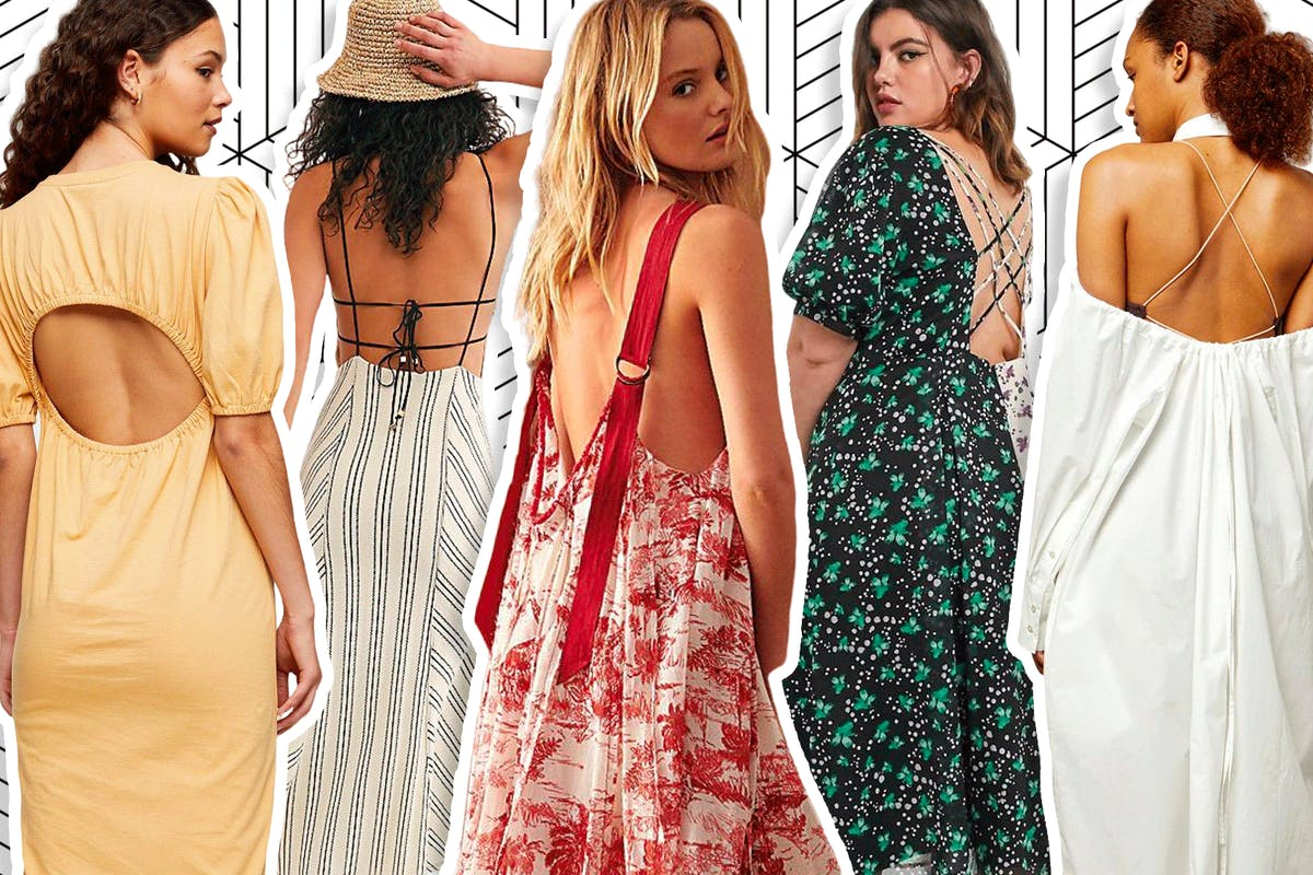 Open back dresses