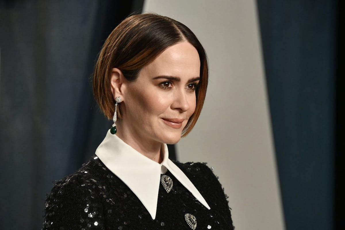 Sarah Paulson attends the 2020 Vanity Fair Oscar Party hosted by Radhika Jones at Wallis Annenberg Center for the Performing Arts on February 09, 2020 in Beverly Hills, California. (Photo by Frazer Harrison/Getty Images)