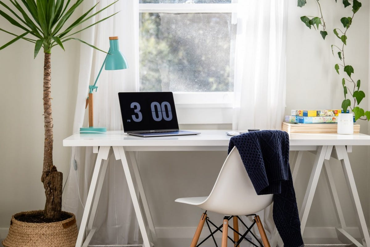 A working from home set-up