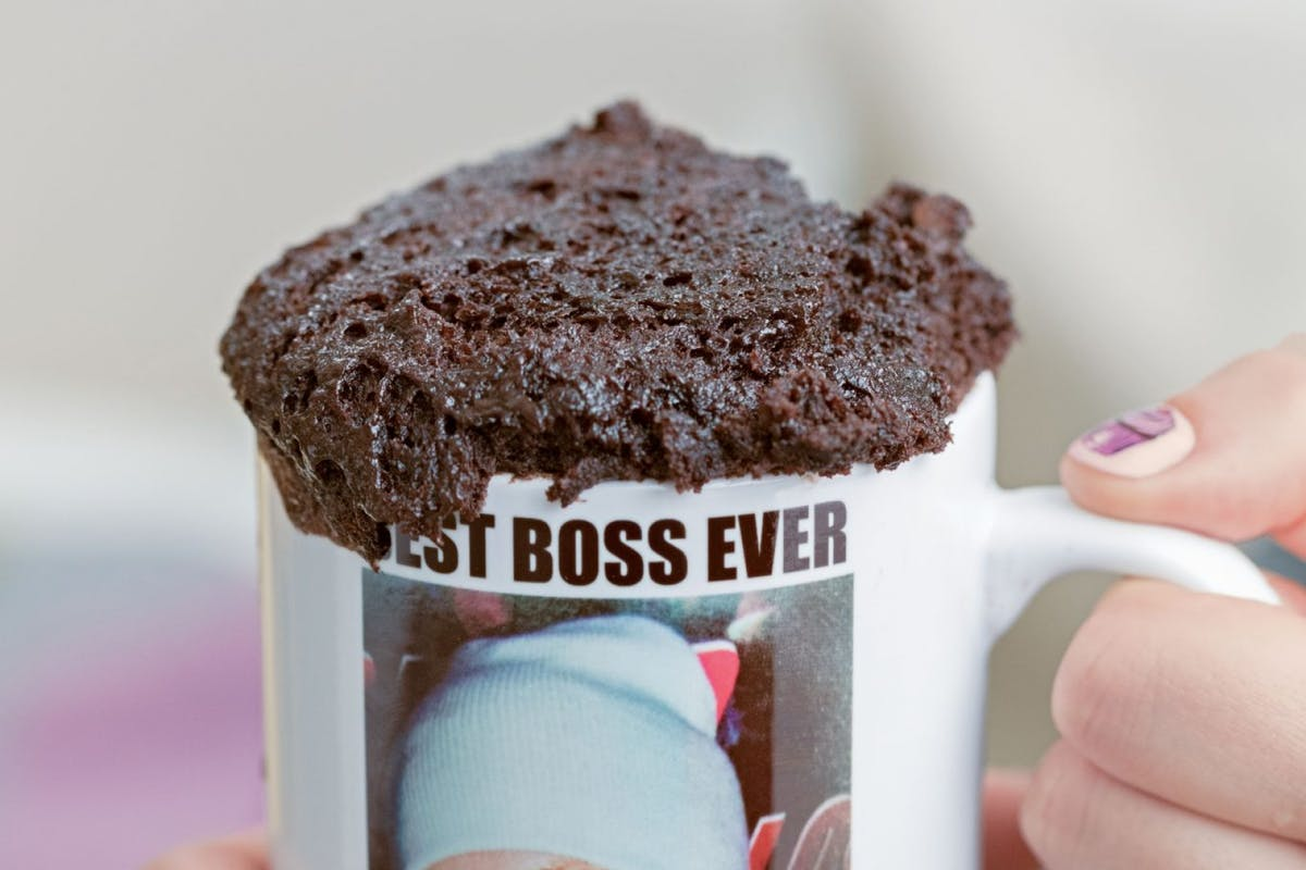 Chocolate mug cake recipe