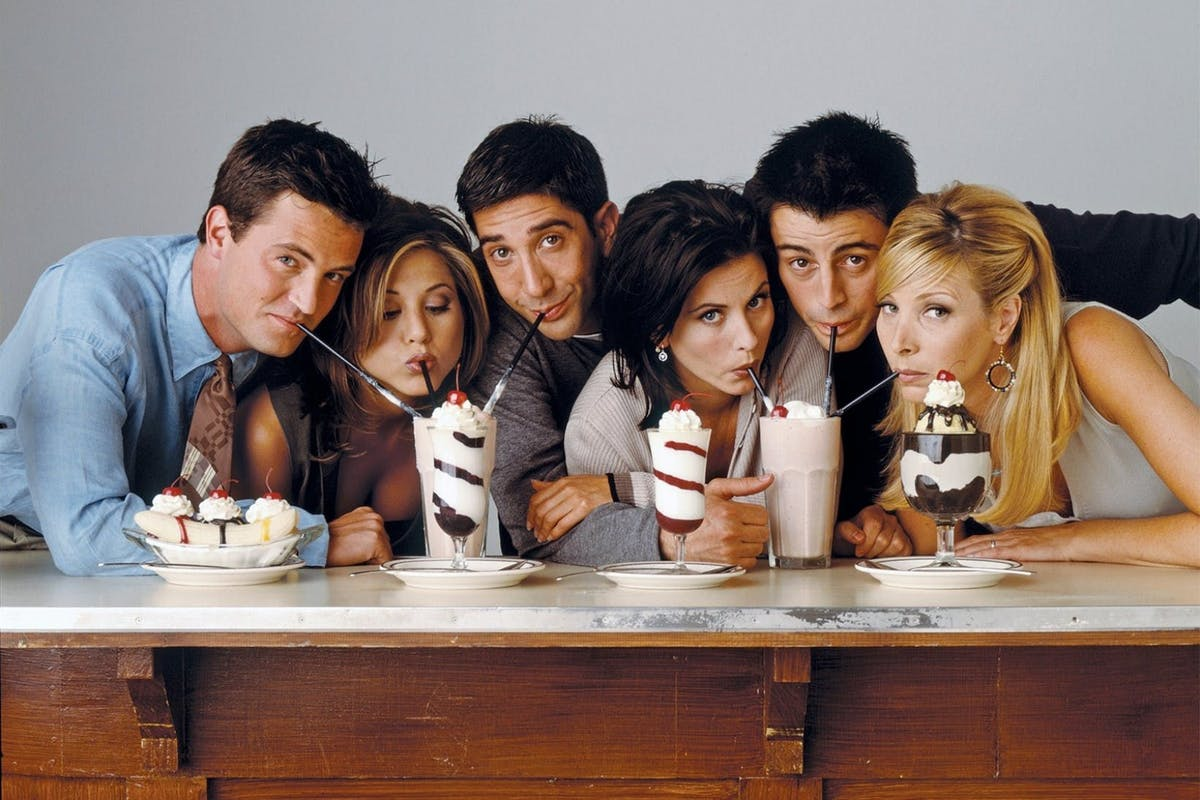 Friends cast: David Schwimmer, Lisa Kudrow, Matt Le Blanc, Matthew Perry, Jennifer Aniston, Courteney Cox