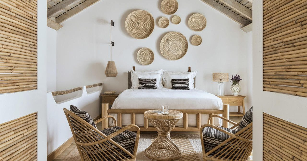 Wicker wall decor is all over Instagram, here's how to try the trend