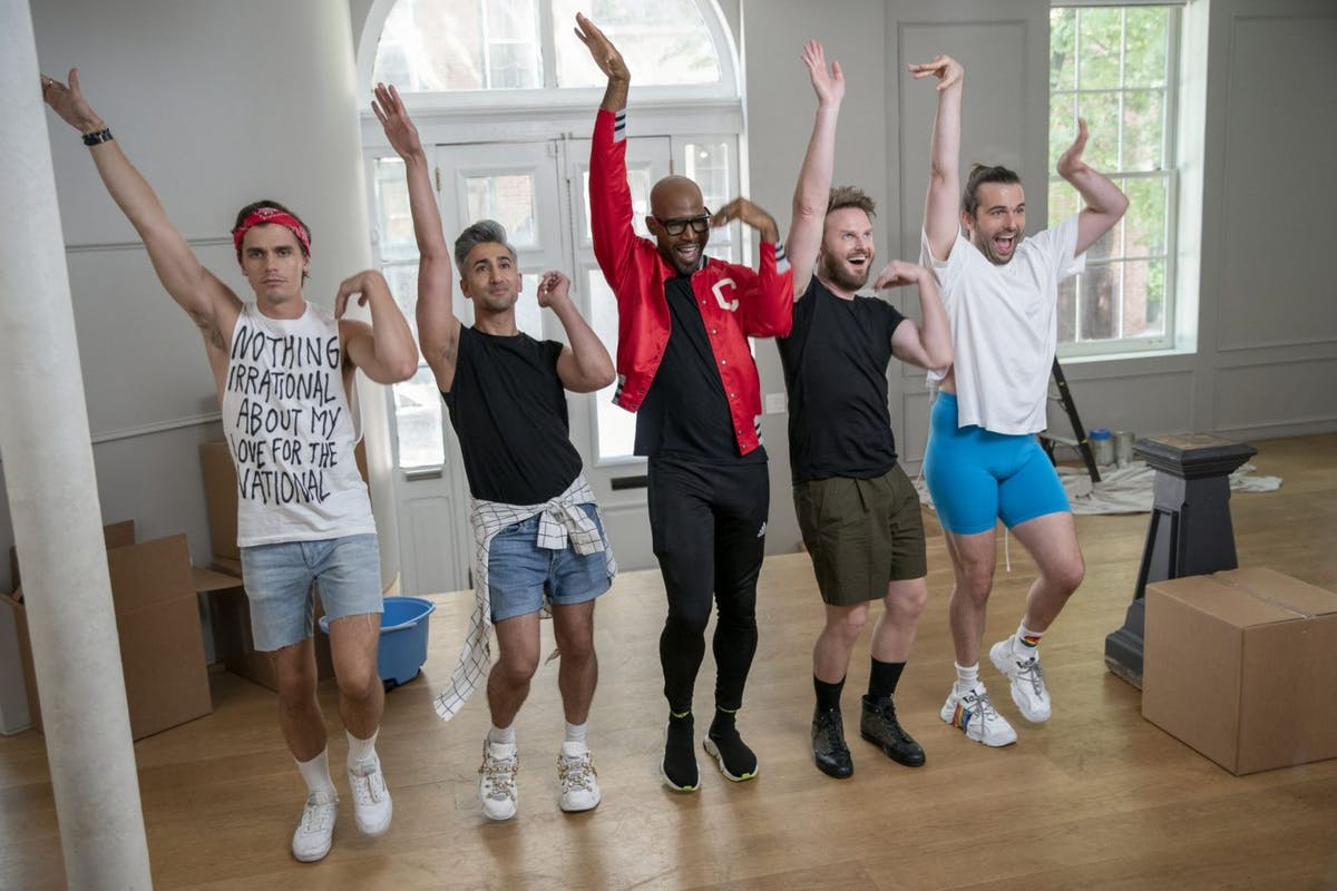 Queer Eye season 5: production still of Fab Five