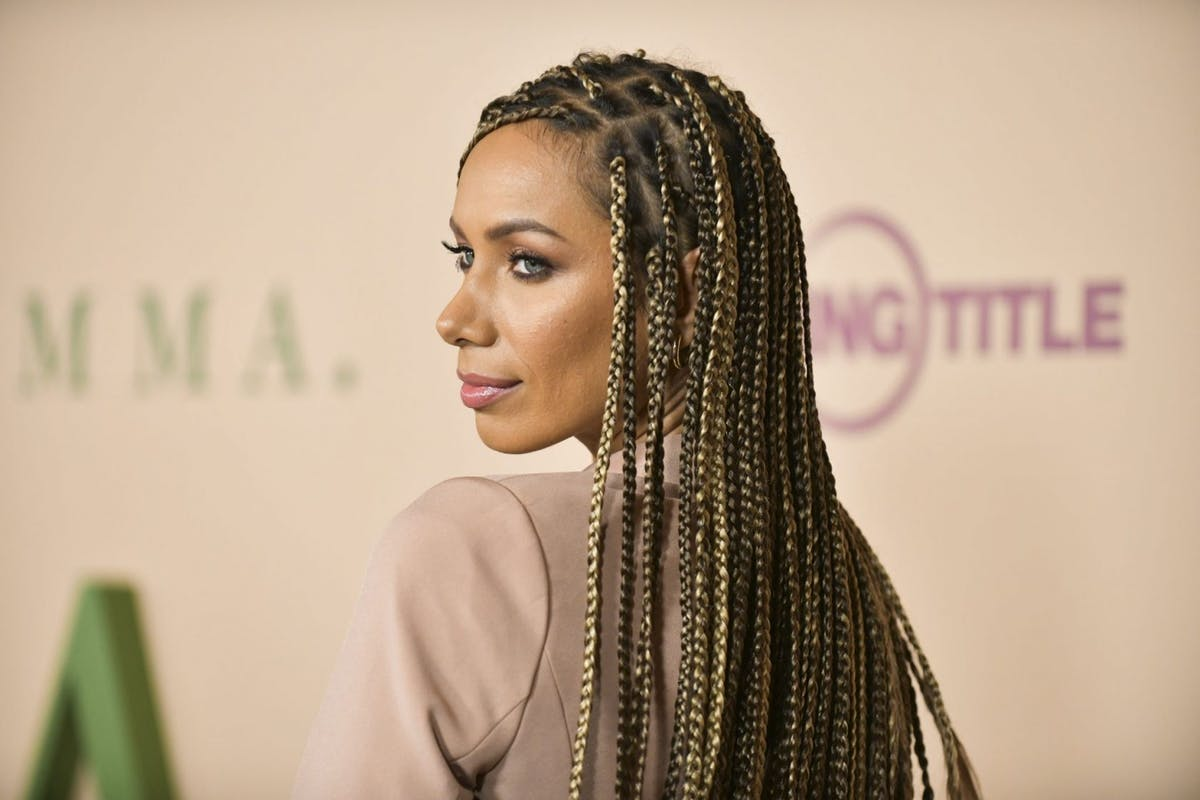 """Leona Lewis, hair detail, attends the premiere of Focus Features' """"Emma."""" at DGA Theater on February 18, 2020 in Los Angeles, California. (Photo by Rodin Eckenroth/WireImage)"""