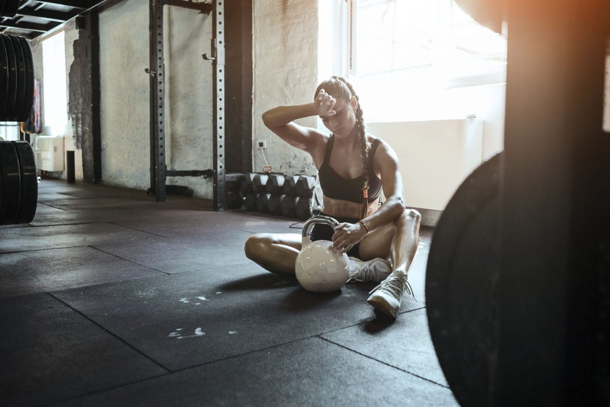 woman gym after workout