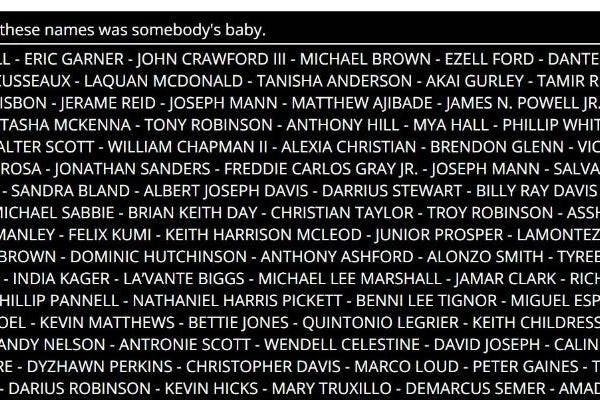BabyNames.com's black lives matter tribute