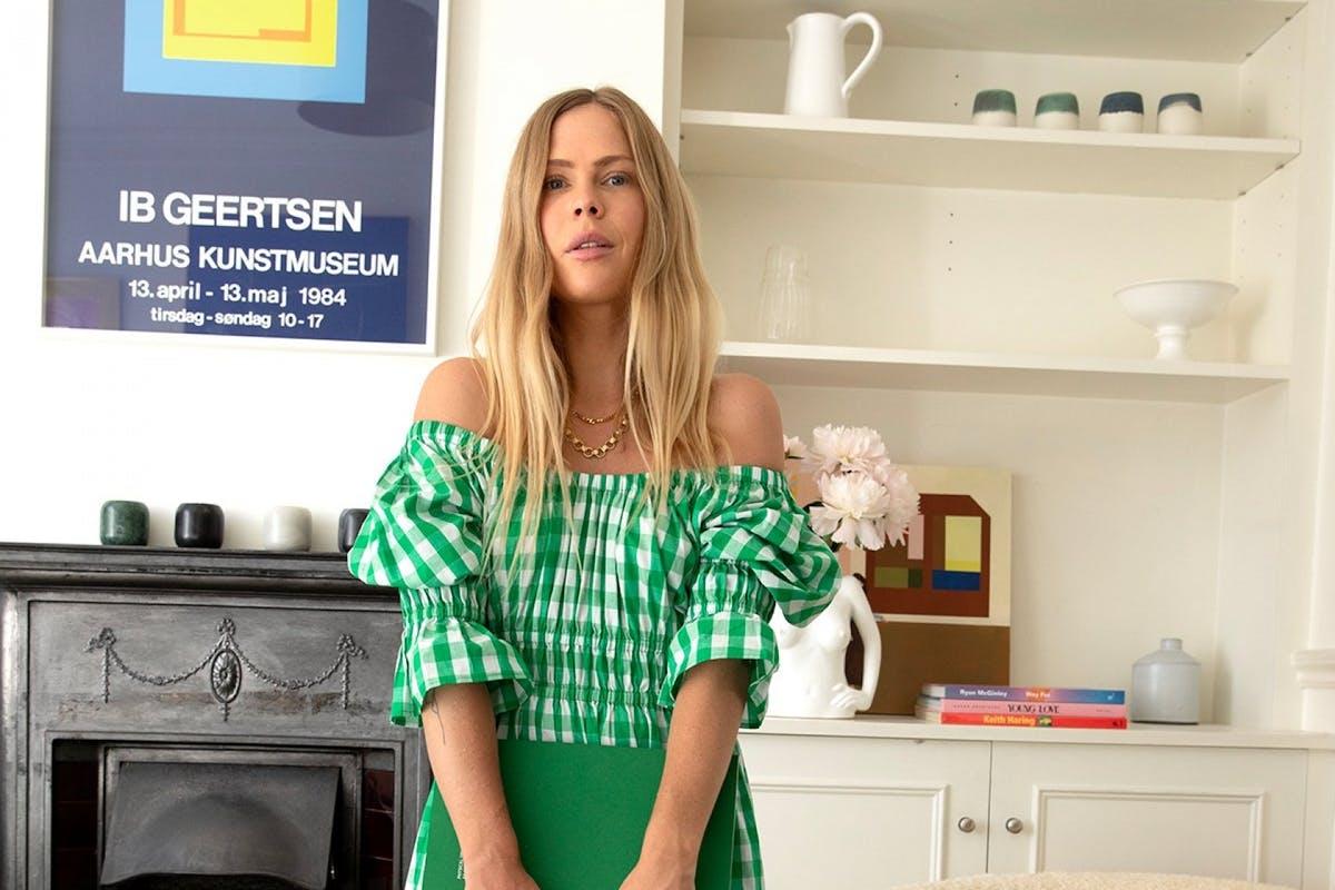 Kitri green ginham Margot dress