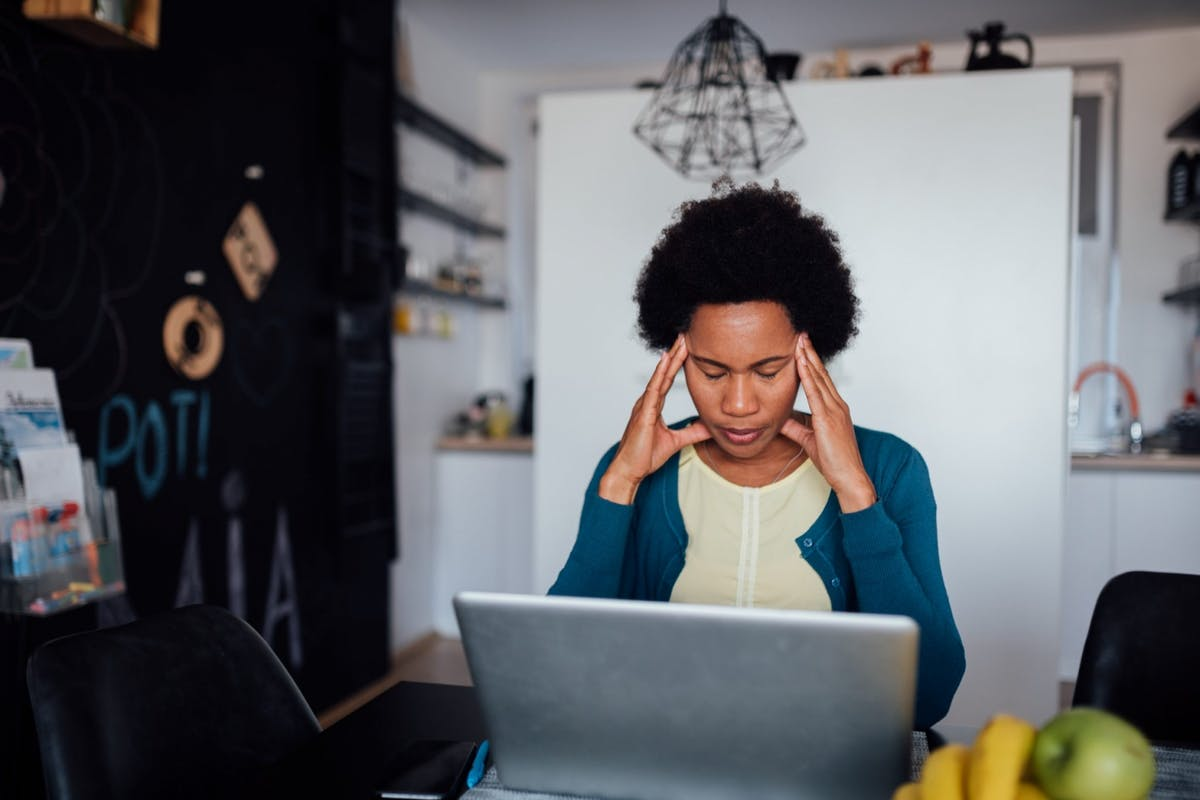 A woman feeling frustrated