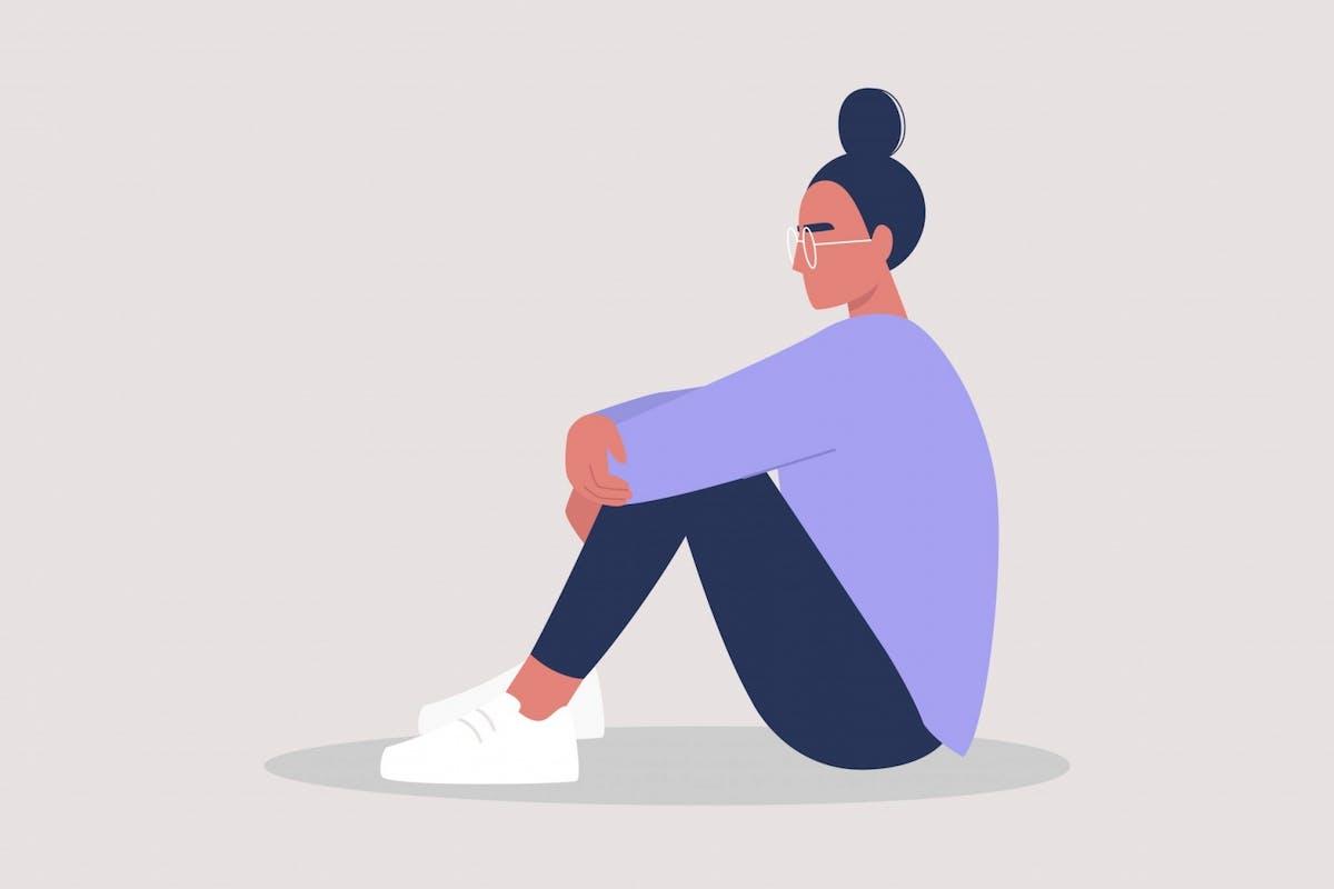 A woman feeling overwhelmed