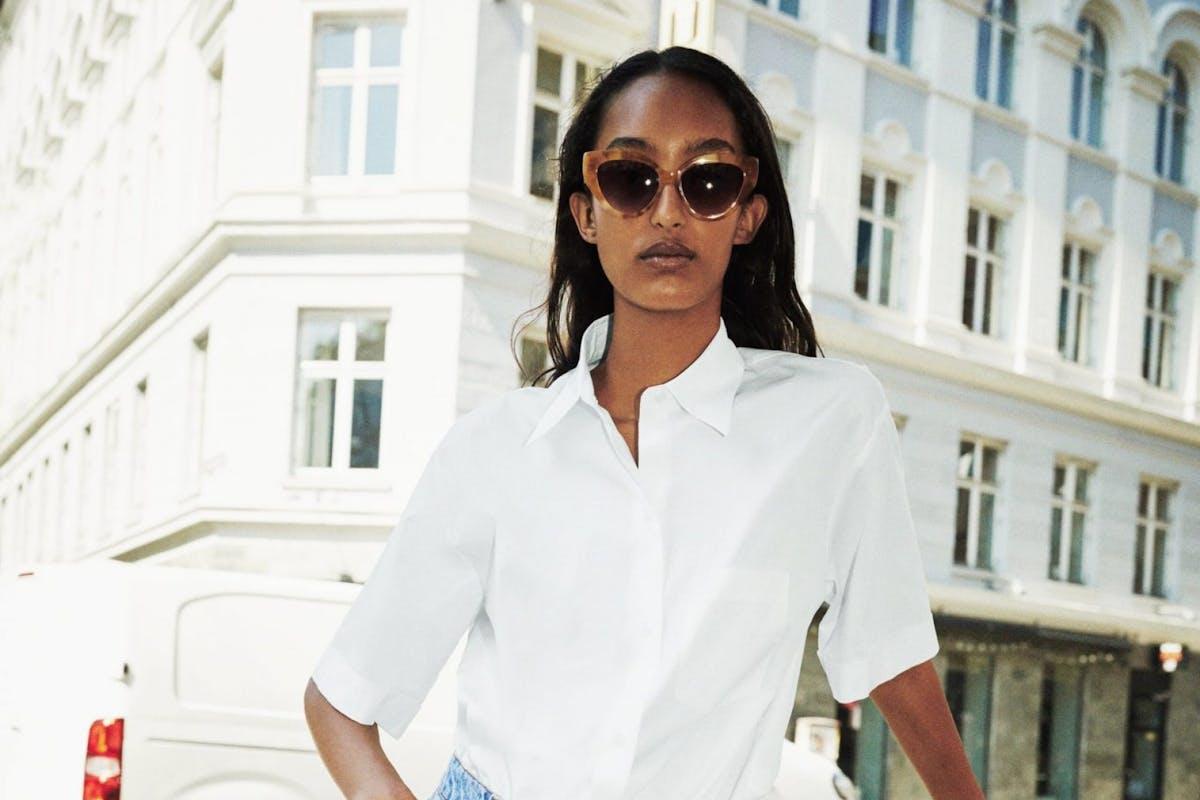 Best short sleeve shirts: White Zara shirt