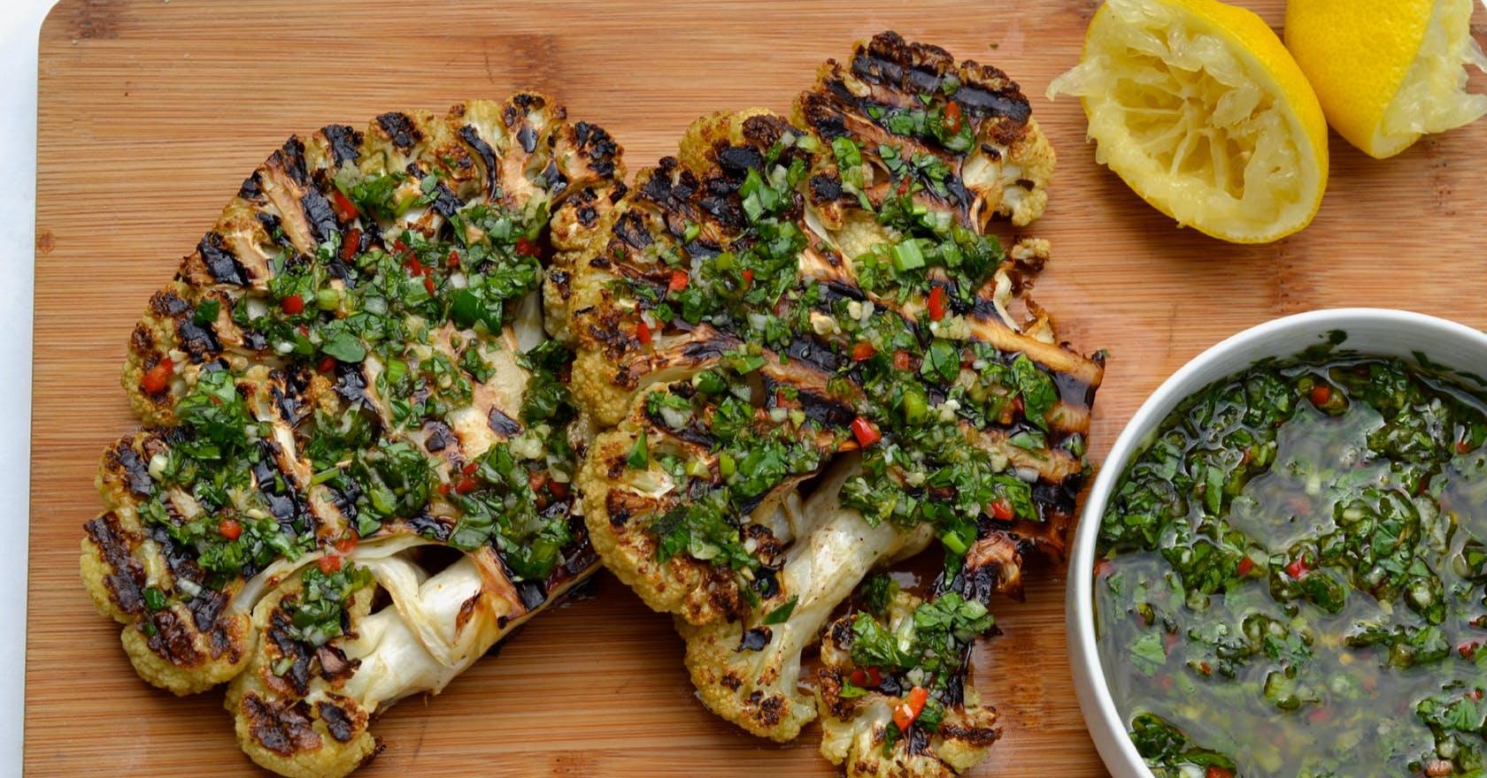 Liven up your BBQ with this vegan cauliflower steak