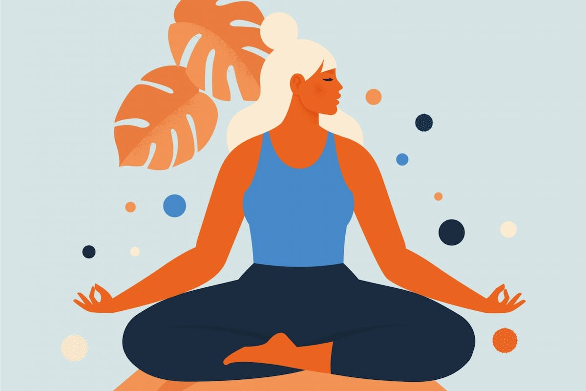 A woman using breathwork to reduce anxiety