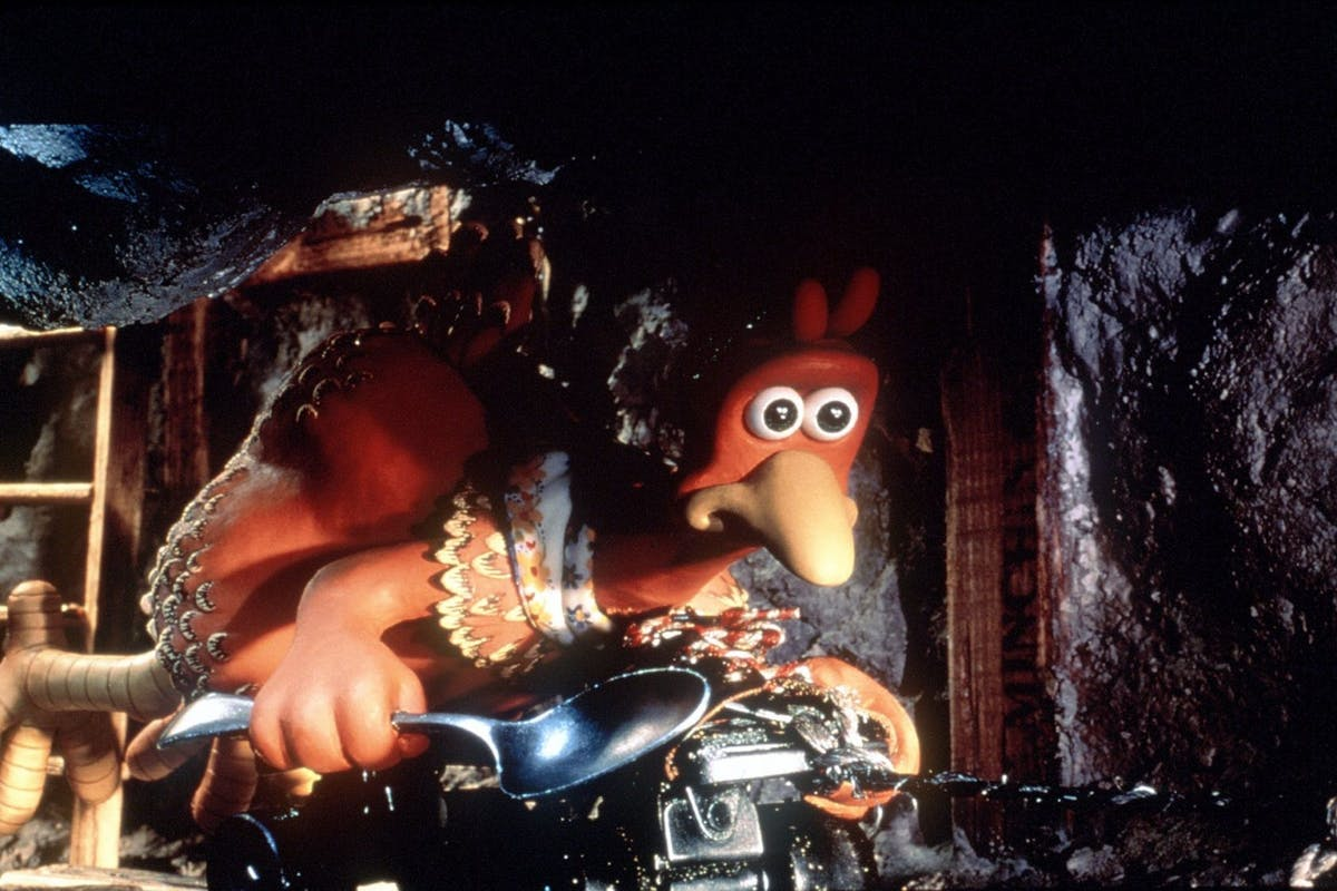 """Ginger (Julia Sawalha) Attempts An Underground Escape From Tweedy's Egg Farm In The Clay Animation Comedy Adventure, """"Chicken Run,"""" An Aardman Features Production Presented By Dreamworks Pictures In Association With Path?. Courtesy Of Dreamworks Pictures Tm & 1999 Dreamworks Llc. (Photo By Getty Images)"""