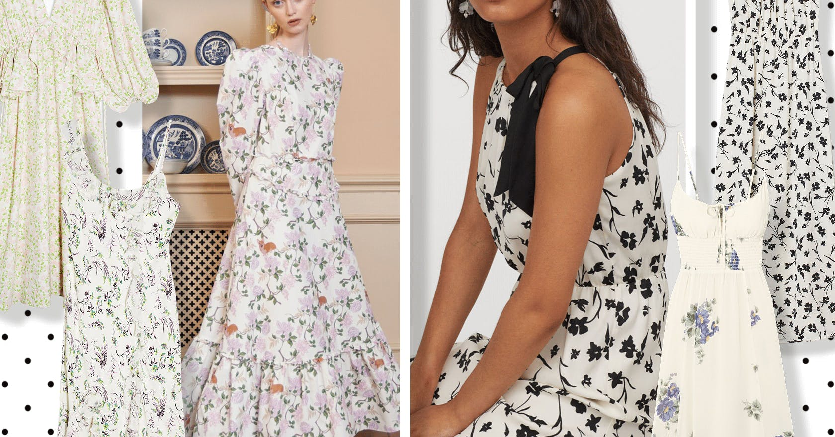 9 white floral maxi dresses to fulfil all your cottagecore dreams