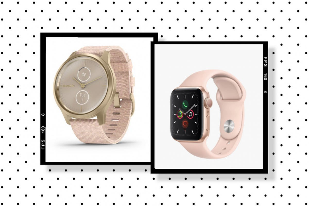Garmin tracker and apple watch