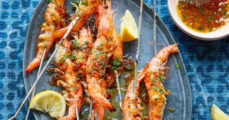 Mouthwatering chilli, ginger and garlic prawns recipe to use on the BBQ