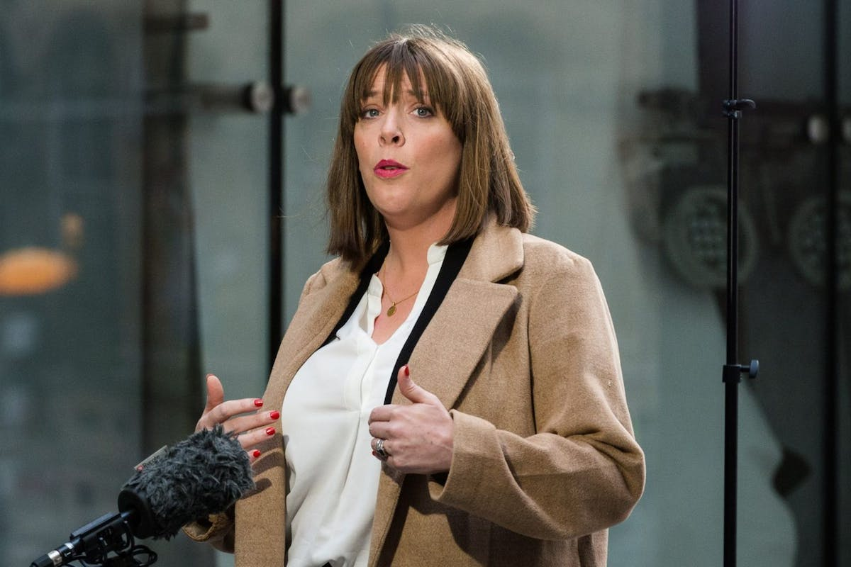Jess Phillips speaks to the media outside the BBC Broadcasting House in central London after appearing on The Andrew Marr Show on 05 January, 2020 in London, England. Jess Phillips declared her candidacy in the race for Labour Party leadership which is due to begin next week. (Photo by WIktor Szymanowicz/NurPhoto via Getty Images)