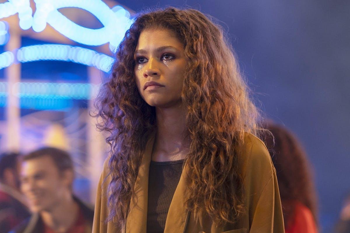 Zendaya as Rue in Euphoria on HBO