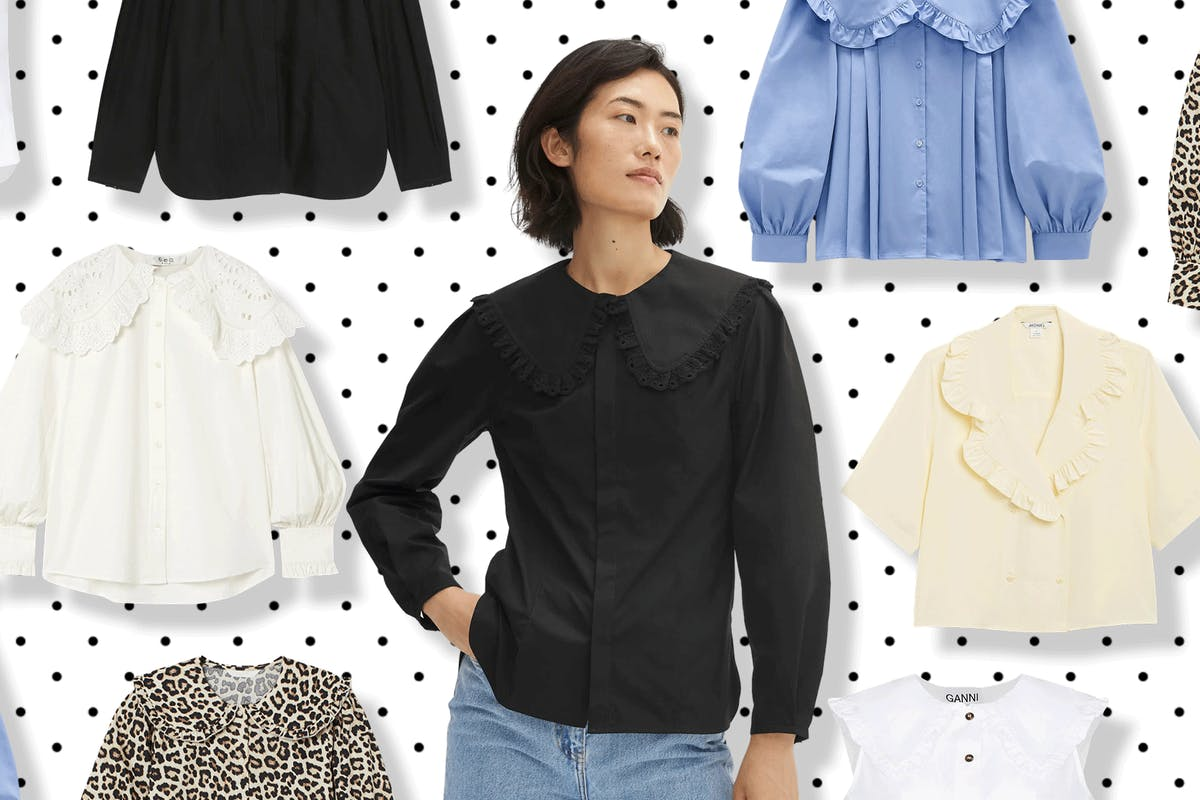 Best big collar blouses to shop now