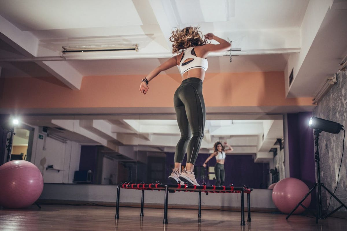Mini trampolines are the perfect piece of home workout kit for cardio