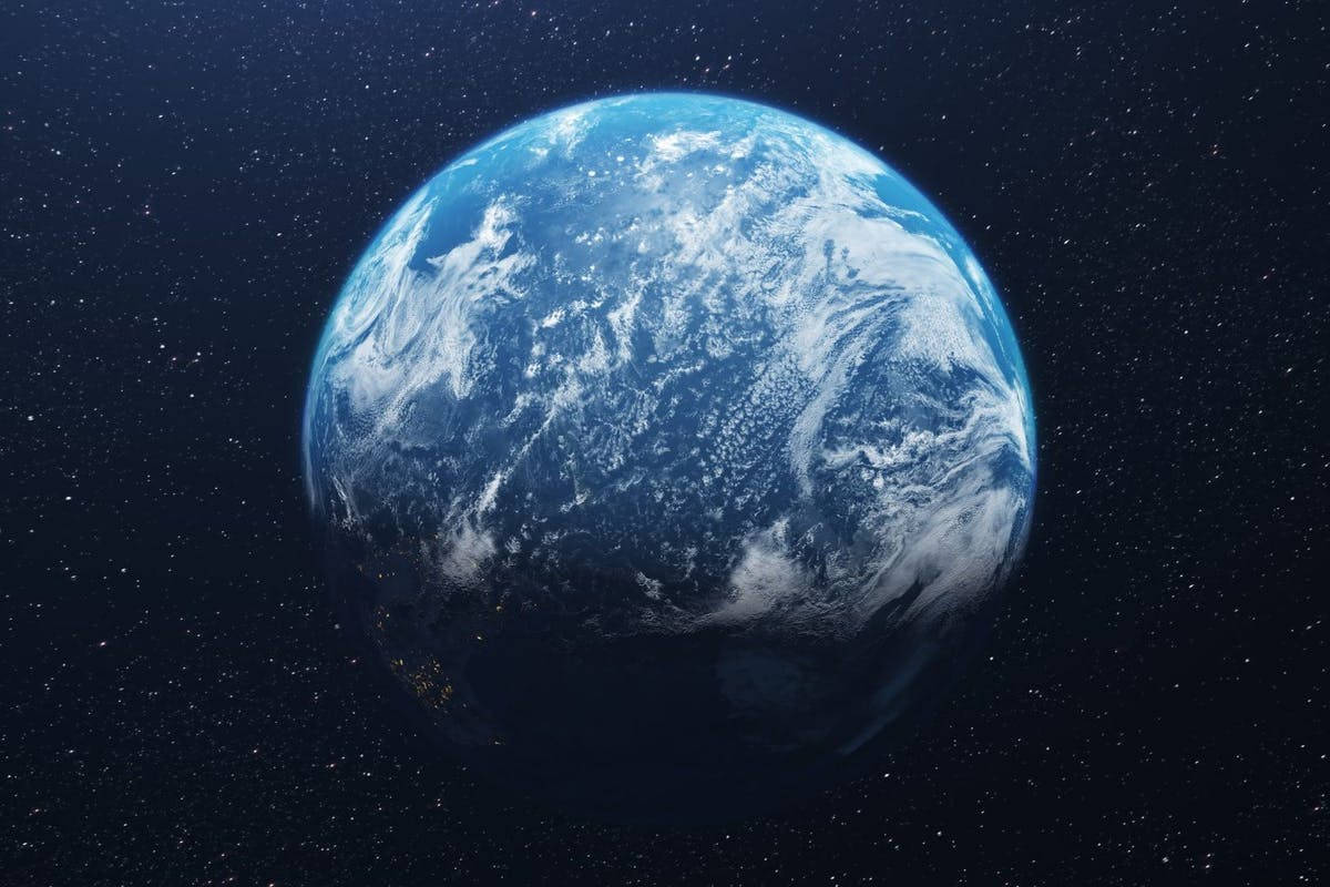 The Three-Body Problem for Netflix: Idyllic Shot Of Earth - stock photo