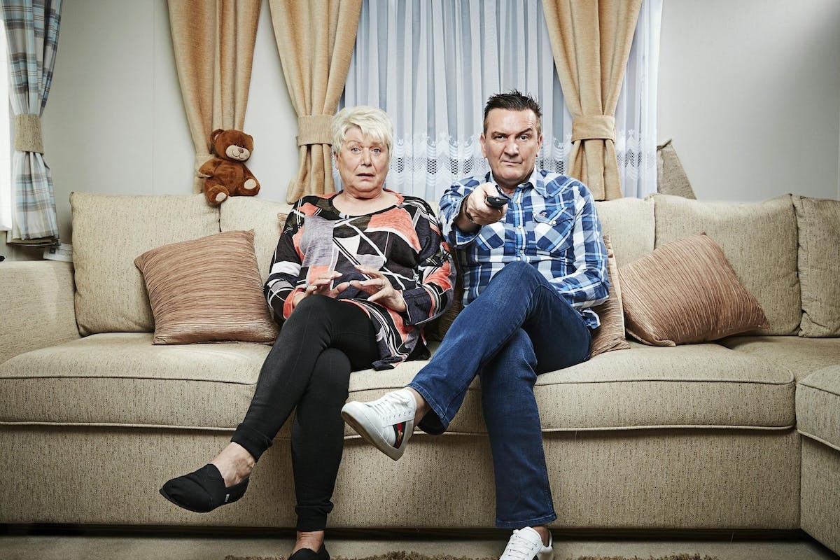 Jenny and Lee on Gogglebox.