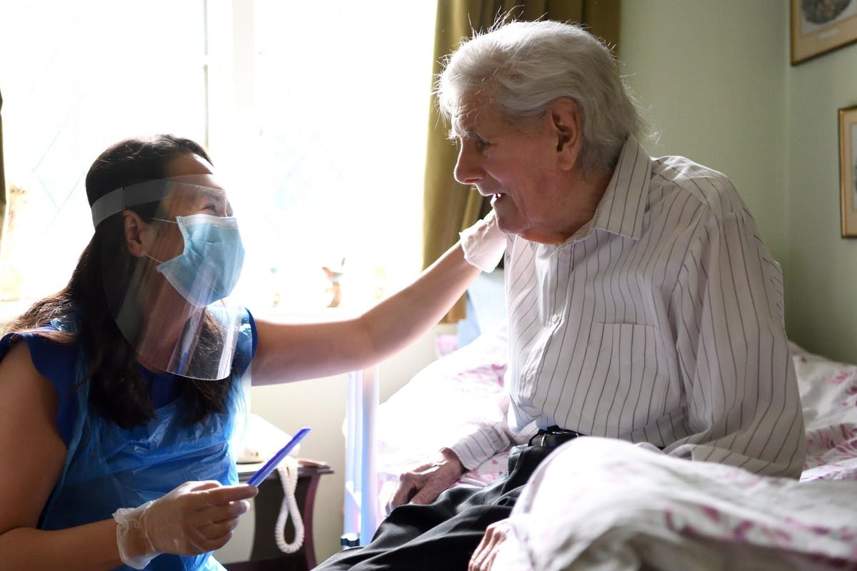 Care homes during pandemic.
