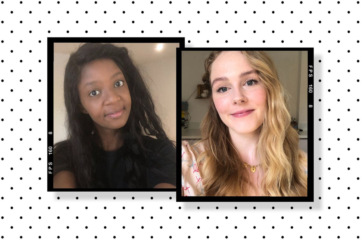 A collage of Jaz and Megan wearing Il Makiage's Woke Up Like This Flawless Base Foundation