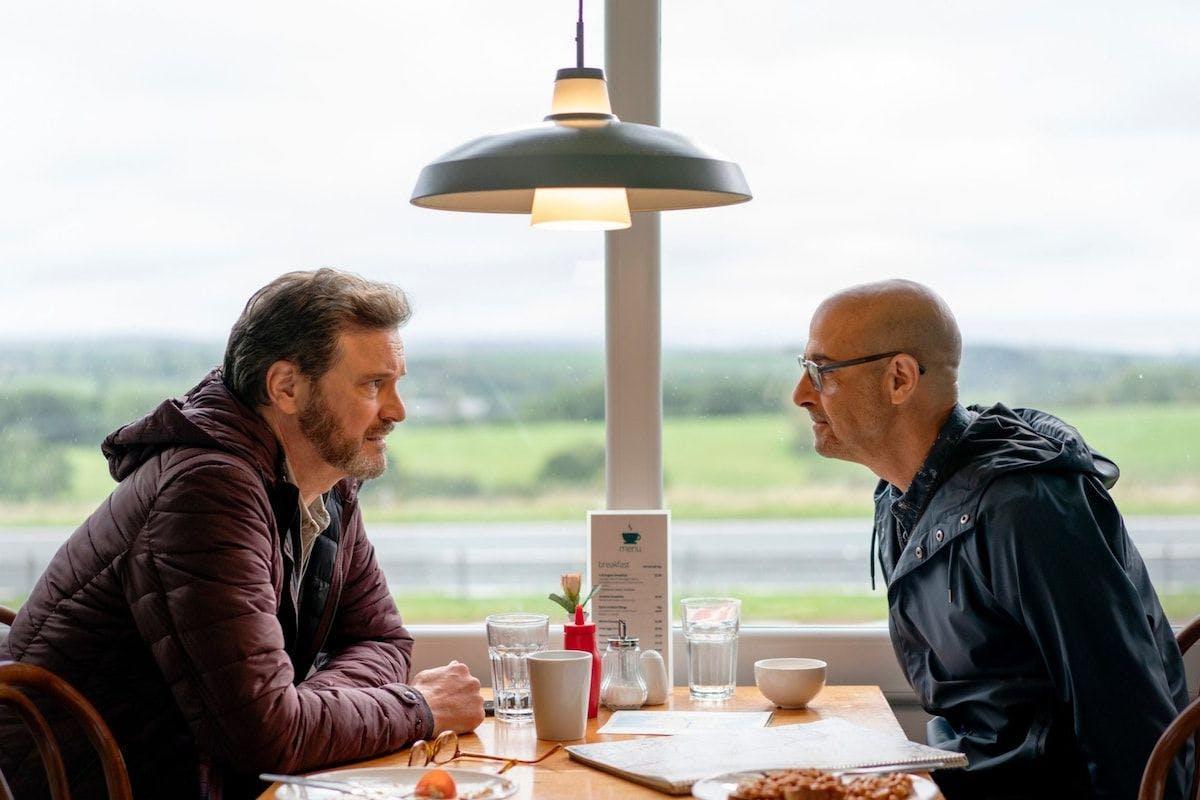 Supernova: Stanley Tucci and Colin Firth.