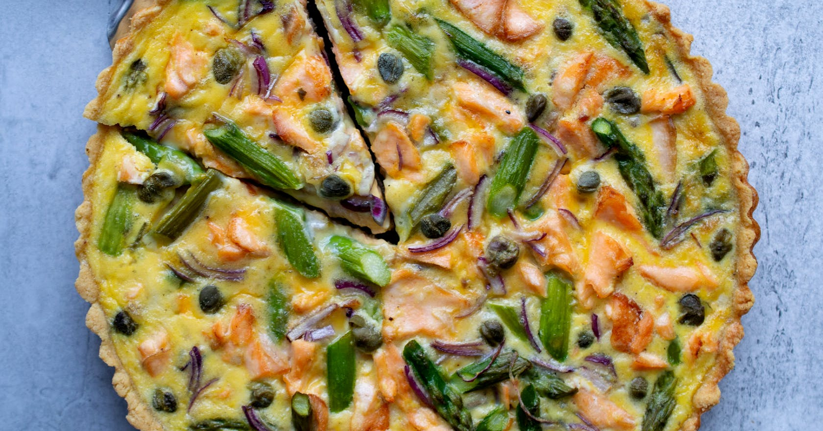 Try this brain-boosting salmon and asparagus quiche