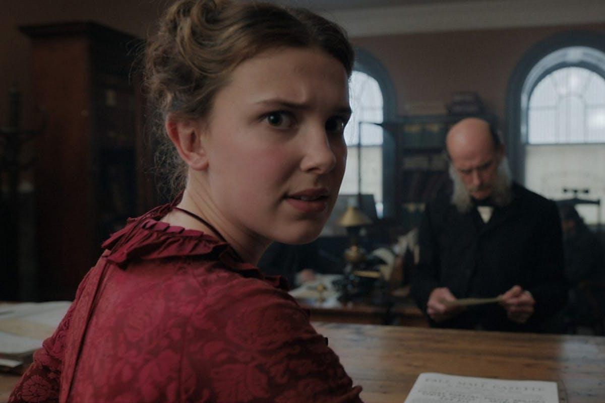 Millie Bobby Brown as Enola Holmes on Netflix