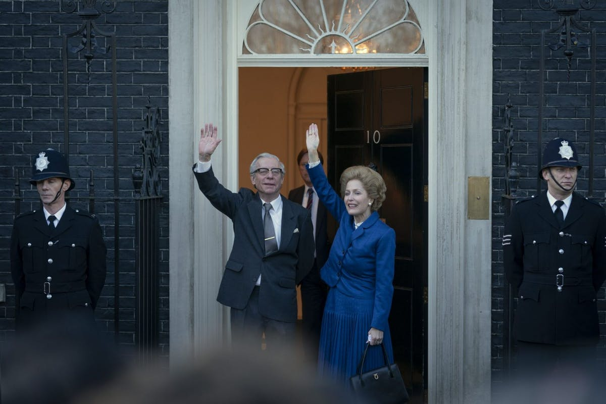 Netflix's The Crown season 4: Gillian Anderson as Margaret Thatcher.
