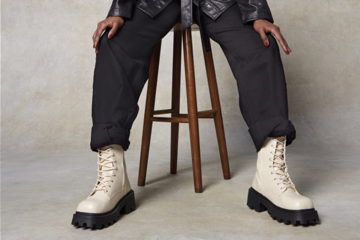 Topshop Christmas Campaign chunky tread stomper boots high street investment autumn/winter