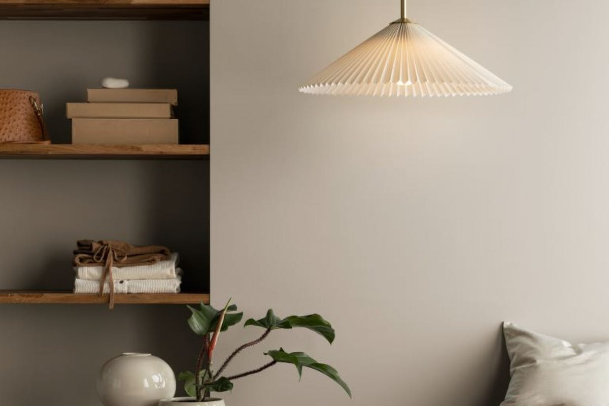 Pleated lampshades to shop online now