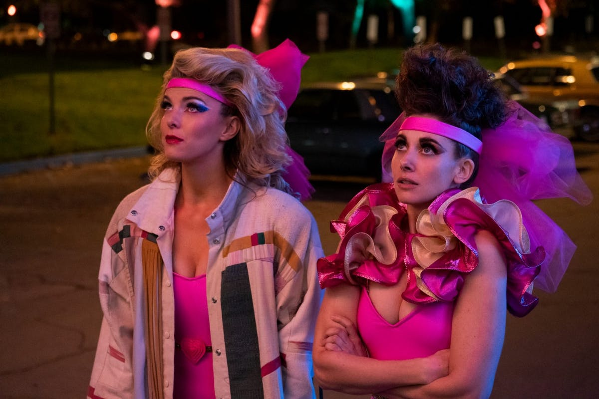 Netflix's Glow: Betty Gilpin and Alison Brie in season three.