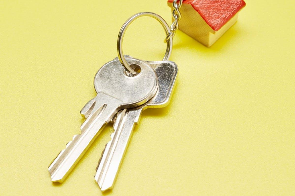 A pair of house keys
