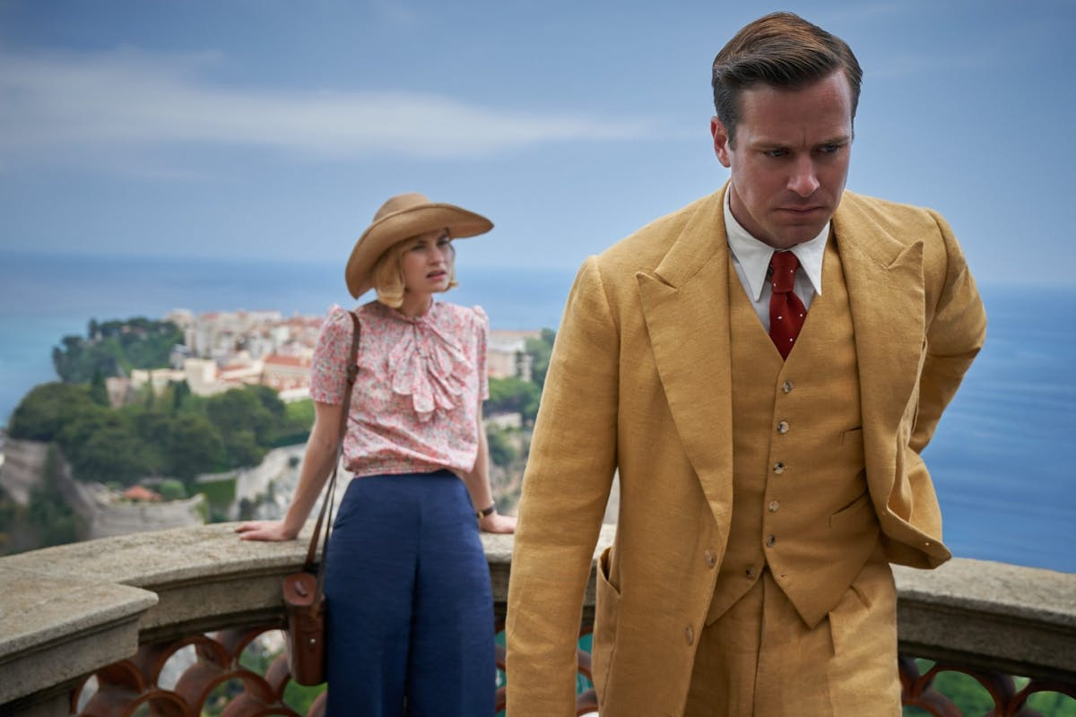 Netflix's Rebecca: Armie Hammer and Lily James as Mr and Mrs de Winter.