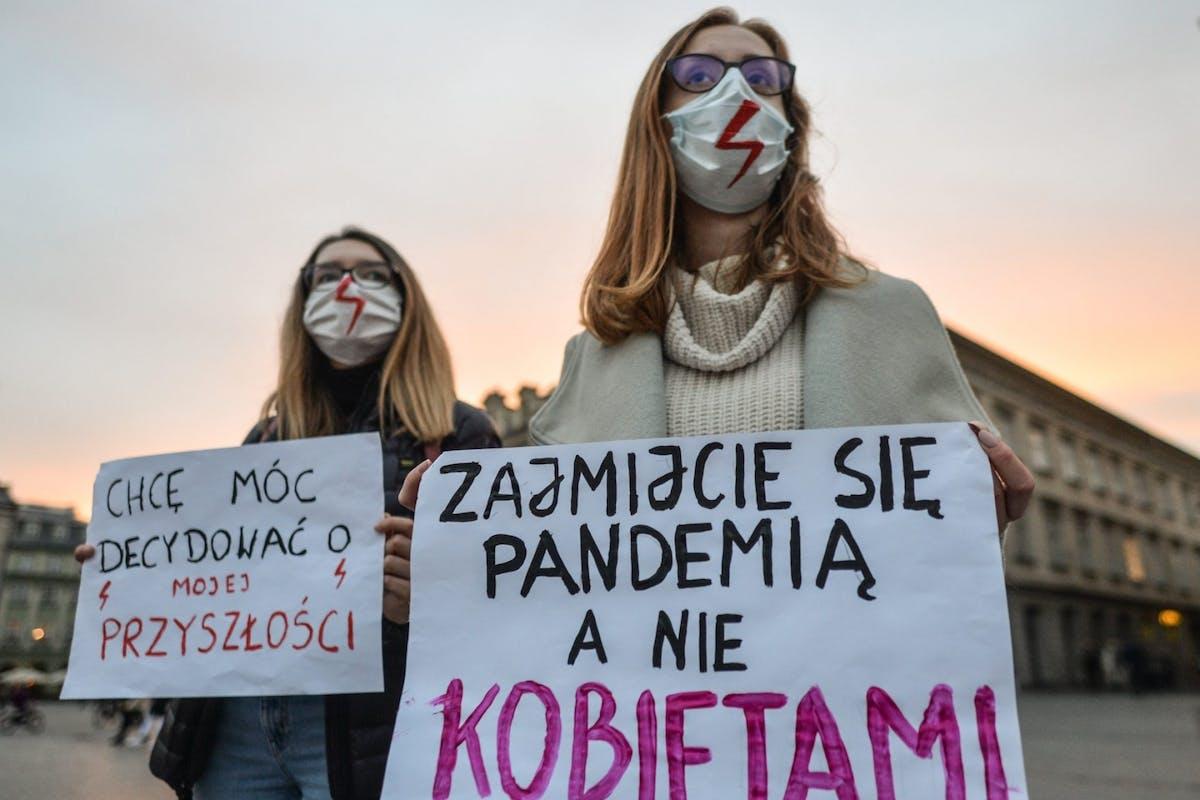 poland abortion protest 2020