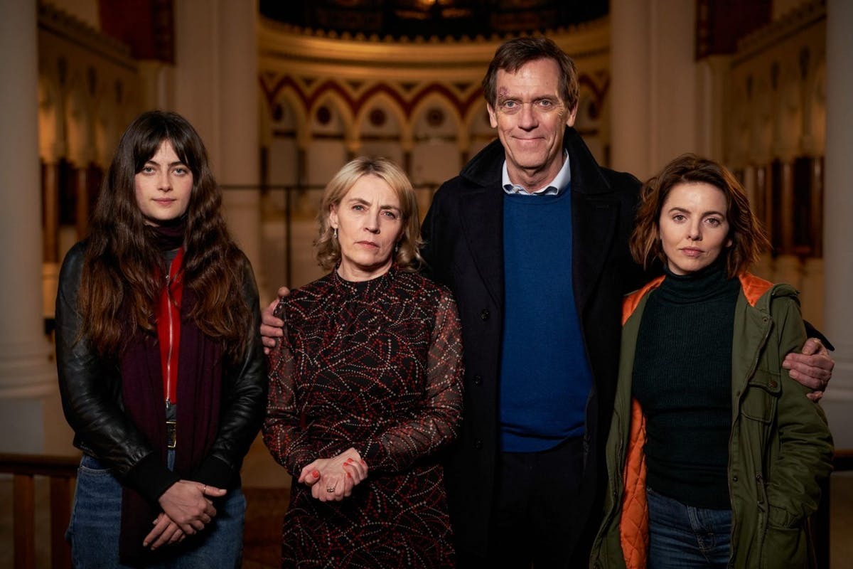 Roadkill Ep 3: Lily Laurence (MILLIE BRADY), Helen Laurence (SASKIA REEVES), Peter Laurence (HUGH LAURIE), Susan Laurence (OPHELIA LOVIBOND) *NOT FOR PUBLICATION UNTIL 00:01HRS, TUESDAY 27TH OCTOBER, 2020*
