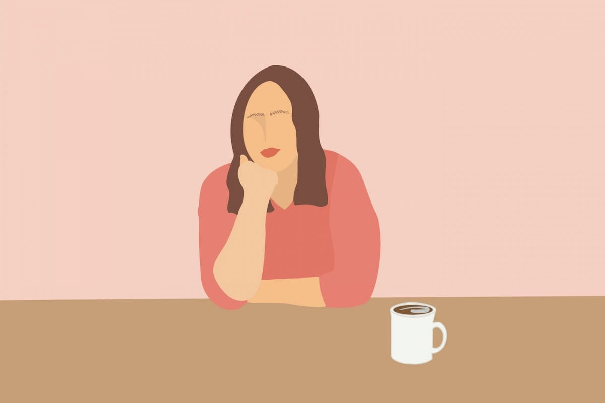 A woman practising mindfulness