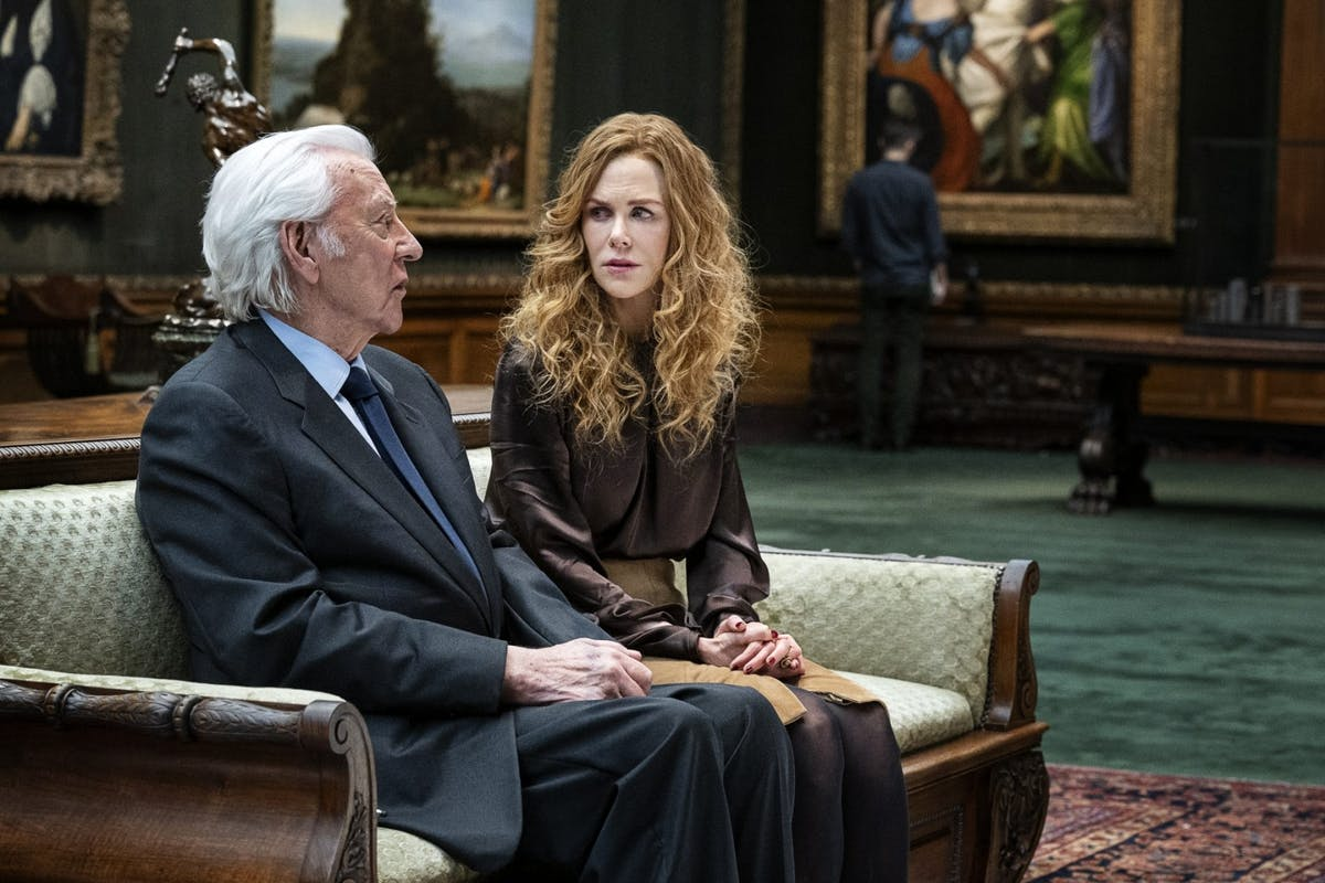 Donald Sutherland as Franklin and Nicole Kidman as Grace in The Undoing