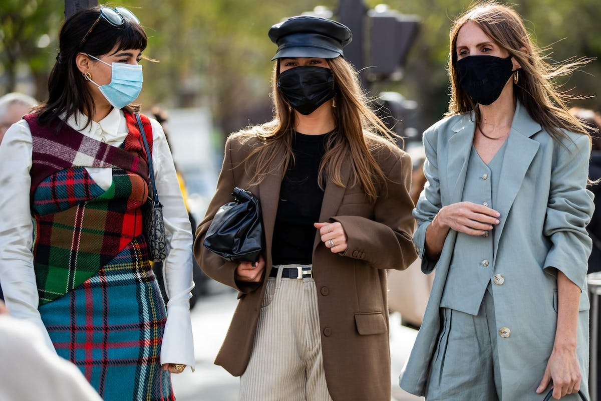 Street style in masks