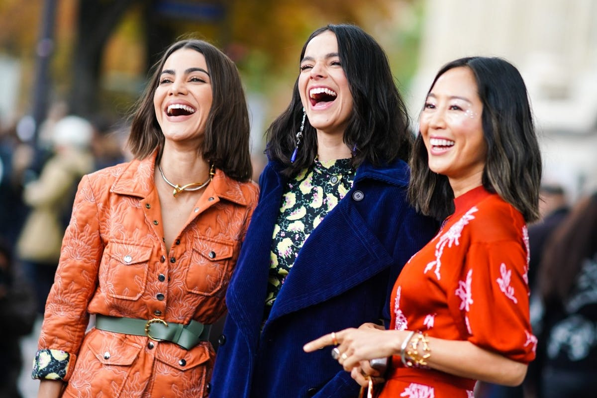 Street style laughing